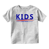 Kids Streetwear For President Infant Baby Boys Short Sleeve T-Shirt Grey