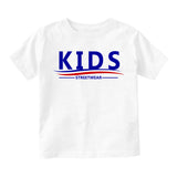 Kids Streetwear For President Infant Baby Boys Short Sleeve T-Shirt White