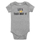 Lets Taco Bout It Baby Bodysuit One Piece Grey