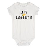 Lets Taco Bout It Baby Bodysuit One Piece White