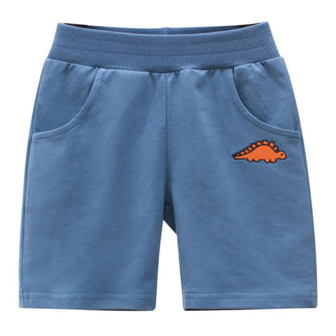 Light Blue Dinosaur Toddler Boys Sweat Shorts