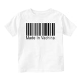 Made In Vachina Barcode Baby Infant Short Sleeve T-Shirt White