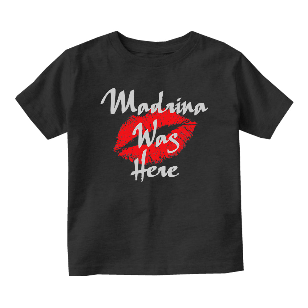 Madrina Was Here Baby Infant Short Sleeve T-Shirt Black