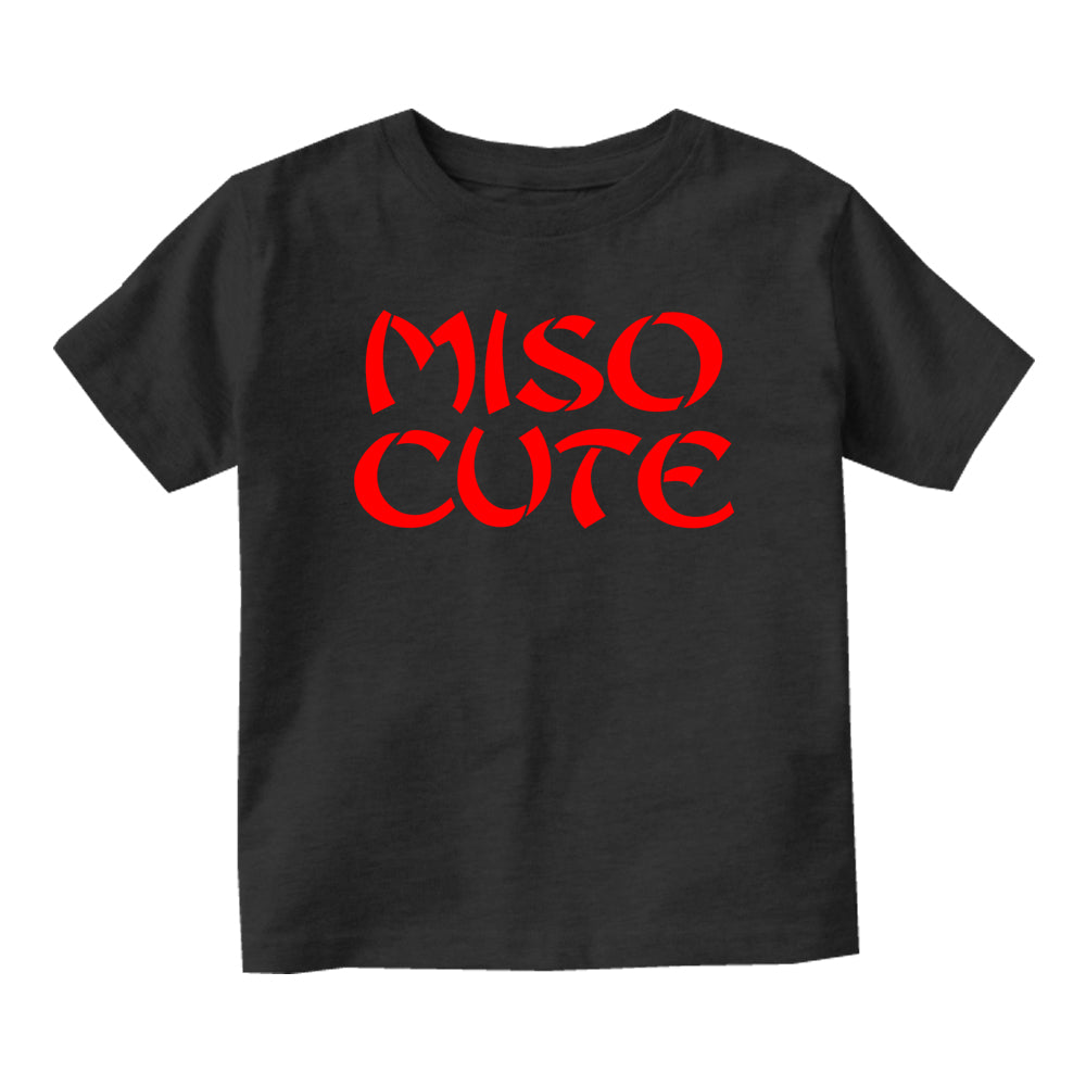 Miso Cute Baby Toddler Short Sleeve T-Shirt Black