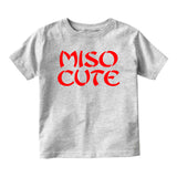 Miso Cute Baby Infant Short Sleeve T-Shirt Grey