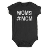 Mom MCM Baby Bodysuit One Piece Black