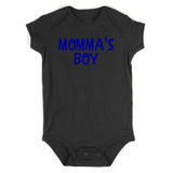 Momma's Boy Blue Baby Bodysuit One Piece Black