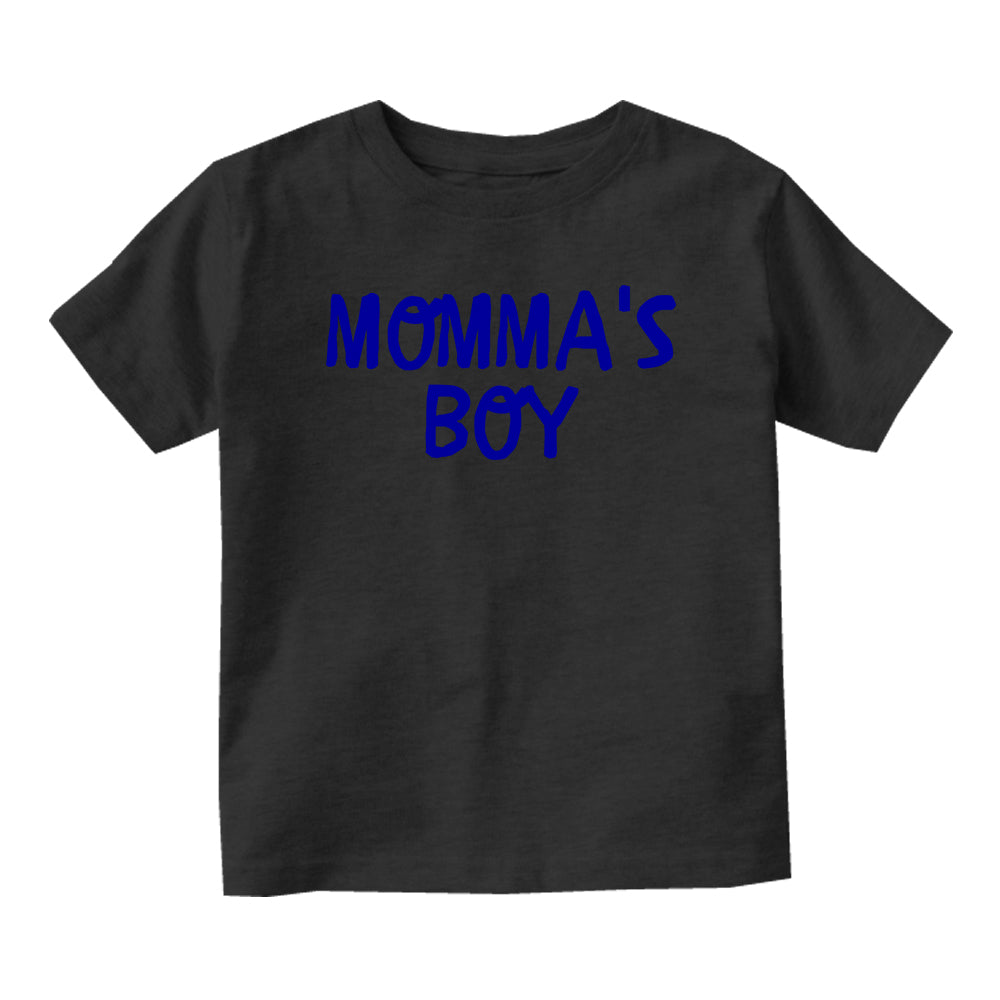 Momma's Boy Blue Baby Infant Short Sleeve T-Shirt Black