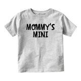 Mommys Mini Baby Toddler Short Sleeve T-Shirt Grey