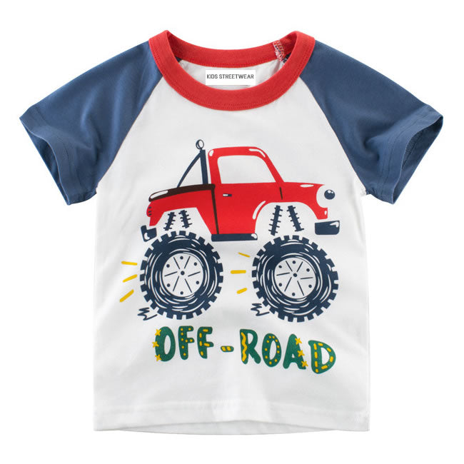 Monster Truck Off Road Toddler Boys Raglan T-Shirt