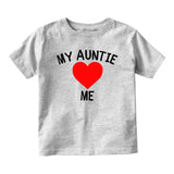 My Auntie Loves Me Baby Infant Short Sleeve T-Shirt Grey
