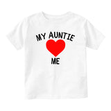 My Auntie Loves Me Baby Toddler Short Sleeve T-Shirt White