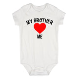 My Brother Loves Me Baby Bodysuit One Piece White