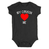 My Cousin Loves Me Baby Bodysuit One Piece Black