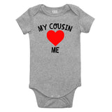 My Cousin Loves Me Baby Bodysuit One Piece Grey