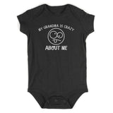 My Grandma Is Crazy About Me Baby Bodysuit One Piece Black