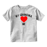 My Grandma Loves Me Baby Infant Short Sleeve T-Shirt Grey
