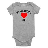 My Grandpa Loves Me Baby Bodysuit One Piece Grey