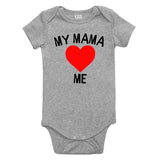 My Mama Loves Me Baby Bodysuit One Piece Grey