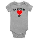 My Stepdad Loves Me Baby Bodysuit One Piece Grey