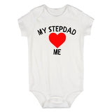 My Stepdad Loves Me Baby Bodysuit One Piece White