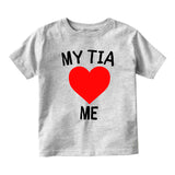 My Tia Loves Me Baby Infant Short Sleeve T-Shirt Grey