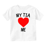 My Tia Loves Me Baby Toddler Short Sleeve T-Shirt White