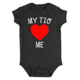 My Tio Loves Me Baby Bodysuit One Piece Black