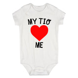 My Tio Loves Me Baby Bodysuit One Piece White