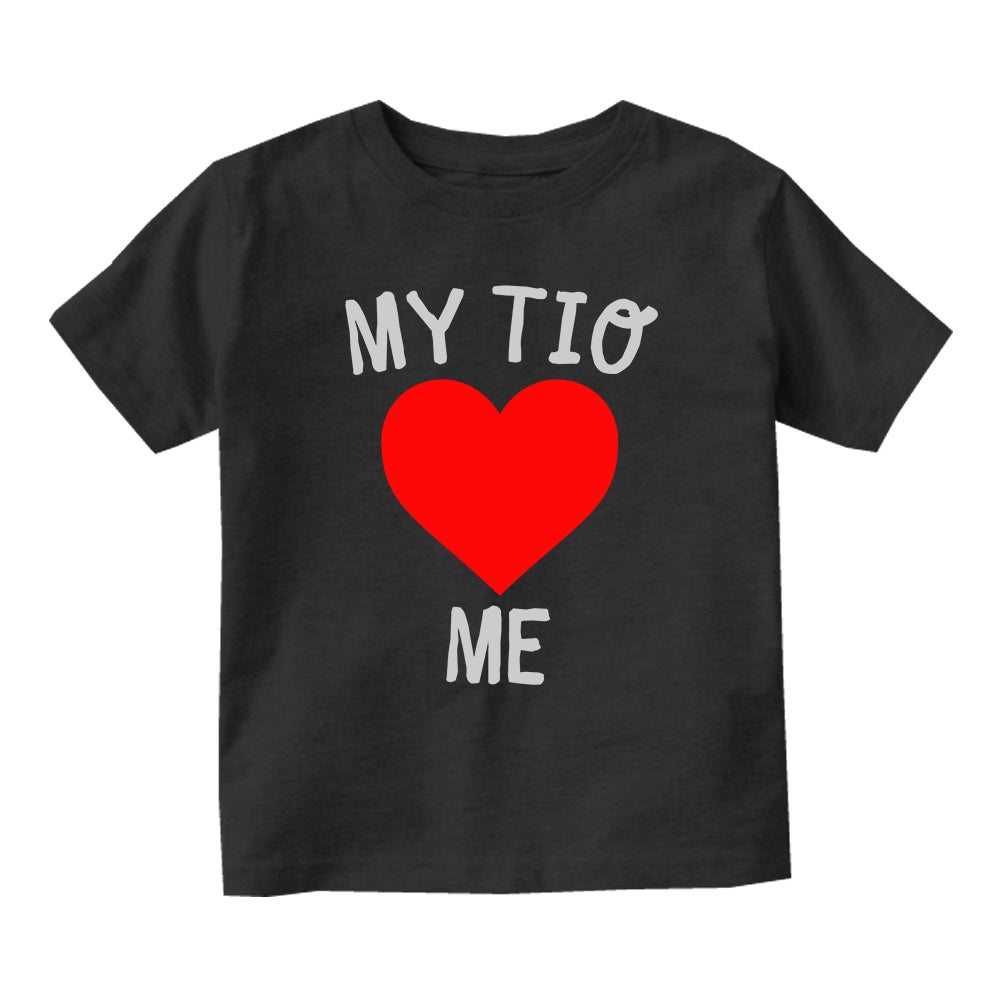 My Tio Loves Me Baby Infant Short Sleeve T-Shirt Black