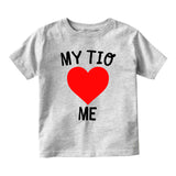 My Tio Loves Me Baby Infant Short Sleeve T-Shirt Grey