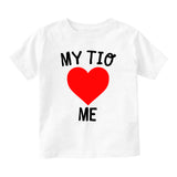 My Tio Loves Me Baby Infant Short Sleeve T-Shirt White