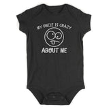 My Uncle Is Crazy About Me Baby Bodysuit One Piece Black