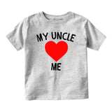 My Uncle Loves Me Baby Toddler Short Sleeve T-Shirt Grey