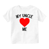 My Uncle Loves Me Baby Toddler Short Sleeve T-Shirt White