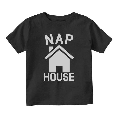 Nap House Sleep Funny Baby Infant Short Sleeve T-Shirt Black