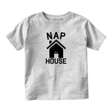 Nap House Sleep Funny Baby Infant Short Sleeve T-Shirt Grey