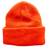 Neon Hunter Orange Toddler Boys Girls Cuffed Winter Beanie Hat