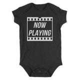 Now Playing Baby Movie Baby Bodysuit One Piece Black