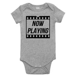 Now Playing Baby Movie Baby Bodysuit One Piece Grey