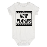 Now Playing Baby Movie Baby Bodysuit One Piece White