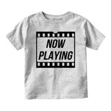 Now Playing Baby Movie Baby Toddler Short Sleeve T-Shirt Grey