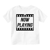 Now Playing Baby Movie Baby Toddler Short Sleeve T-Shirt White