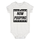 Now Pooping Baby Movie Baby Bodysuit One Piece White