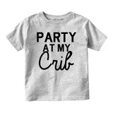 Party At My Crib Baby Infant Short Sleeve T-Shirt Grey
