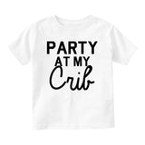 Party At My Crib Baby Infant Short Sleeve T-Shirt White