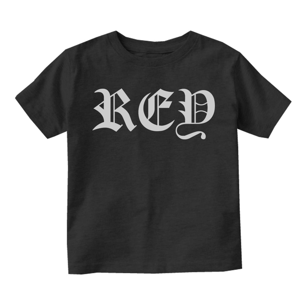 Rey King Spanish Goth Infant Baby Boys Short Sleeve T-Shirt Black