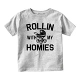 Rollin With My Homies Stroller Baby Infant Short Sleeve T-Shirt Grey