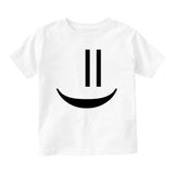 Smiley Emoticon Cute Baby Toddler Short Sleeve T-Shirt White