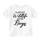 Support Wildlife Raise Boys Baby Infant Short Sleeve T-Shirt White